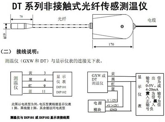 dt光纤式红外测温仪